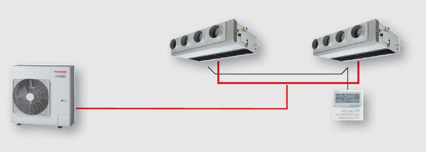 Jednostka wewnętrzna podwójny split SDI/DI/BIG DI